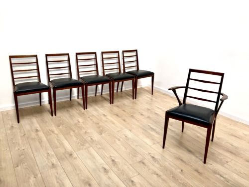 Superb Set of 6 Mid Century Rosewood Dining Chairs By A H McIntosh 1960's