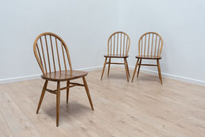 Vintage Ercol Blonde Beech and Elm Windsor Dining Chairs 1960's