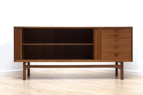 Rare Mid Century Swedish Troeds Oden Vintage Teak Sideboard By Nils Jonsson