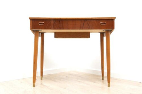 Mid Century Danish Vintage Teak Dressing Table with Mirror And Drawers /840