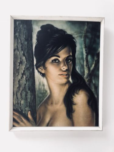 Original Mid Century Retro Tretchikoff Framed & Signed Print Of Tina 1960's