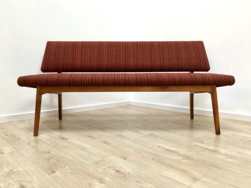 Rare Mid Century Danish Vintage Oak Dining Seating Hall Bench 1960's