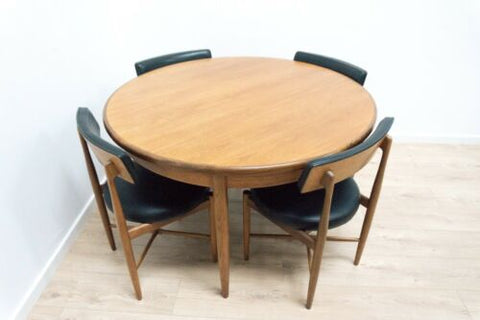 Midcentury GPlan Fresco Dining Table & 4 Dining Chairs 1960's /1475