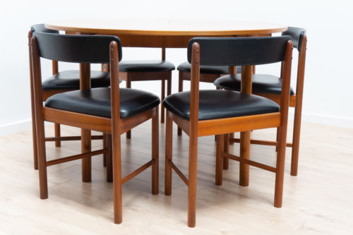 Superb Mid Century Vintage Teak A H Mcintosh Dining Table and 6 Chairs /141