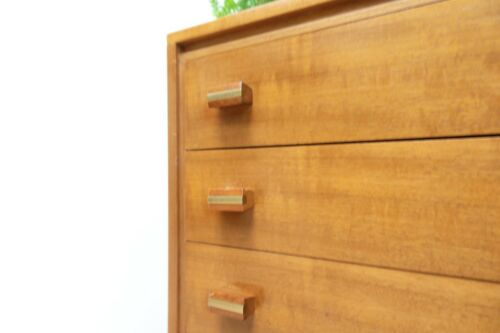 Midcentury Loughborough Walnut Chest Of Drawers Vintage Heals /1448