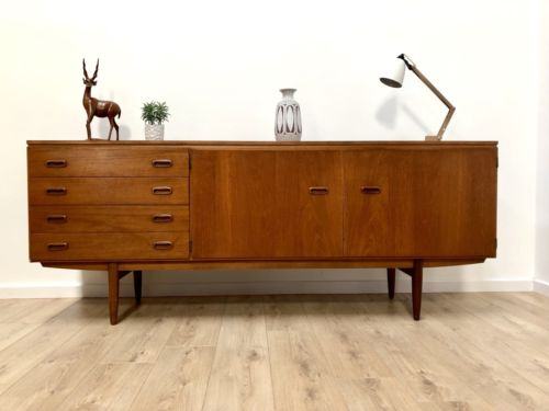 Superb Mid Century Vintage Danish Teak Modernist Sideboard With Drawers 1960's