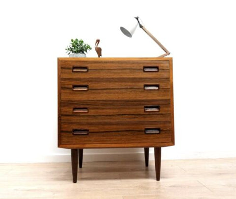 Stunning Mid Century Vintage Danish Rosewood Chest Of Drawers /606