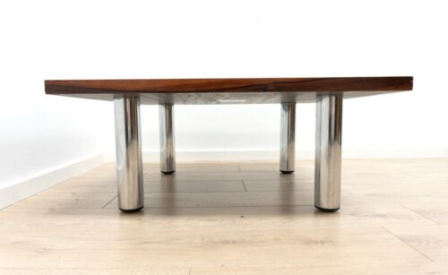 Mid Century Vintage Modernist Rosewood & Chrome Pieff Coffee Table /1349