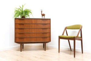 Rare Mid Century Vintage Danish Teak Westergaard Tallboy Chest Of 6 Drawers /971