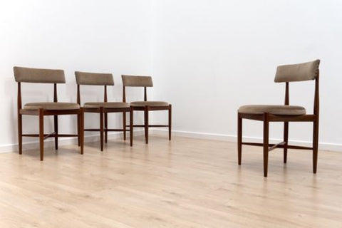 Set Of 4 Mid Century G Plan Fresco Kofod Larsen Vintage Teak Dining Chairs