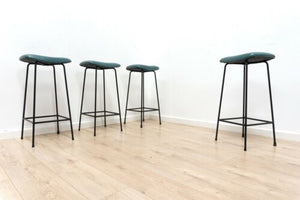 Set of 4 Mid Century Original Frank Guille For Kandya Bar Stools 1960's /1351