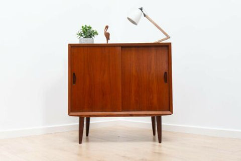 Stylish Mid Century Danish Teak Small Sideboard Storage Unit 1960's /616