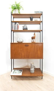Mid Century Vintage Teak Avalon Shelving Bookcase Storage Unit /1371