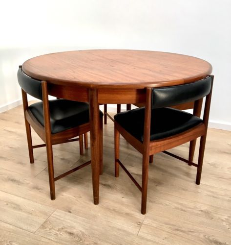 Stunning Vintage G Plan Teak Extending Dining Table And 4 McIntosh Dining Chairs