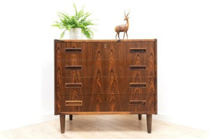 Stunning Mid Century Vintage Danish Rosewood Chest Of Drawers /1352
