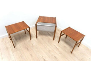 Rare Mid Century Vintage Teak McIntosh Nest Of Tables Coffee Tables /828