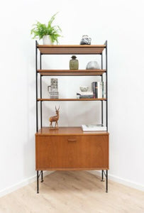 Mid Century Vintage Teak Avalon Shelving Bookcase Storage Unit /1368