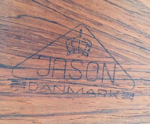 Retro Vintage Mid Century Danish Rosewood Coffee Table By Jason Mobler