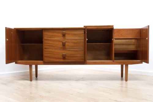 Spectacular Mid Century Vintage Teak Sideboard with Cocktail Bar 1960's /358