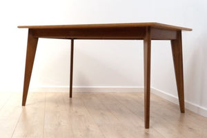 Mid Century Vintage Teak And Walnut Dining Table By Morris Of Glasgow