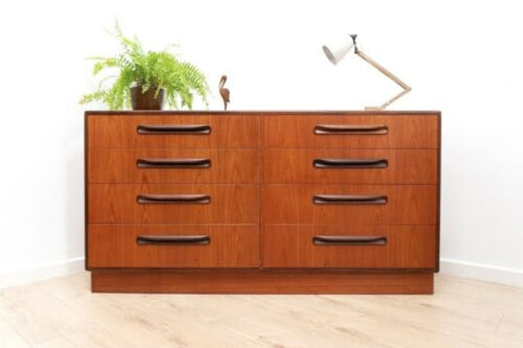 Mid Century Vintage Teak G Plan Fresco Chest Of 8 Drawers /1311