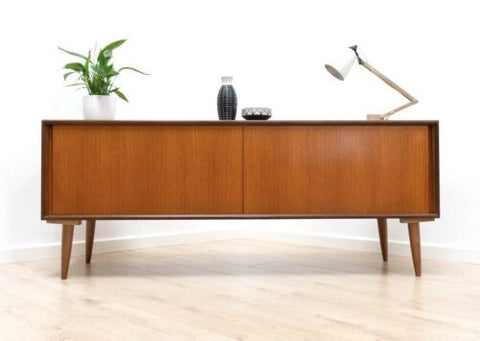 Mid Century Vintage Teak G Plan Long & Low Sideboard TV Media Console /773