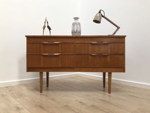 Superb Mid Century Vintage Teak Small Sideboard with Drawers 1960's