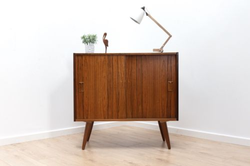 Mid Century Danish Rosewood Small Sideboard Storage Media Unit 1960's /184