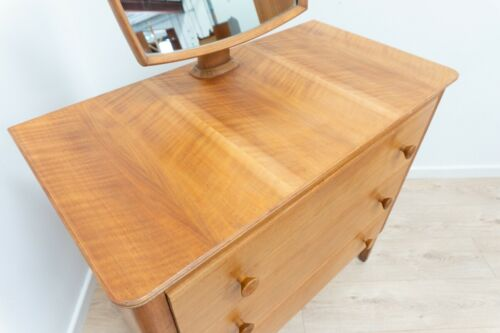 Rare Mid Century Gordon Russell Vintage Oak Drawer Dresser With Mirror /1310