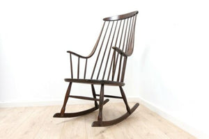 Mid Century Lena Larsson Swedish Vintage Rocking Chair 1950's /1329