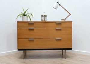 Superb Mid Century Vintage Stag Teak Chest Of Drawers 1960's /509