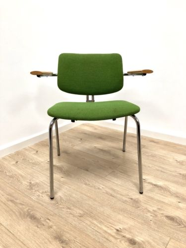Superb Vintage Desk Office Chair Beech And Chrome by Duba Denmark
