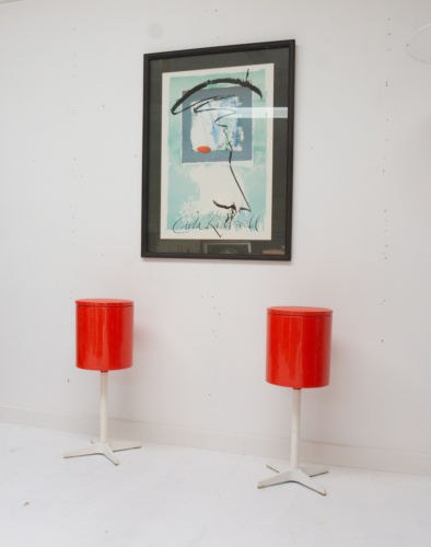 Rare Atomic Space Age Modernist Bedroom Vanity Units 1960's 1 Of 2 1960's