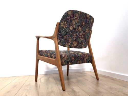 Superb Mid Century Danish Vintage Blonde Oak Armchair Lounge Chair 1960's
