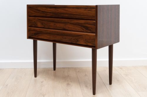 Mid Century Vintage Danish Hans Andersen Rosewood Chest Of 3 Drawers