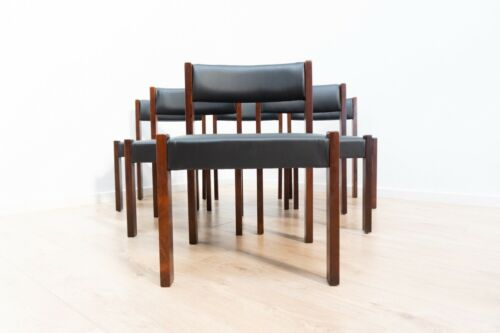 Midcentury Uniflex Vintage Rosewood Hoffstead Dining Table 6 Dining Chairs /1467