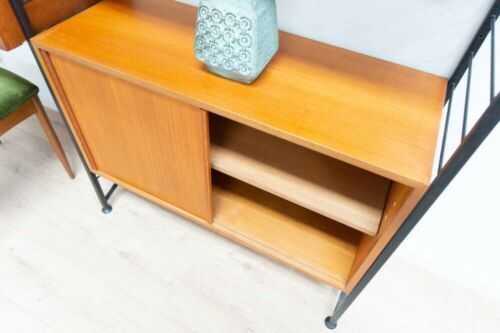 Superb Mid Century Vintage Teak Staples Ladderax Desk Shelving Storage Unit /824