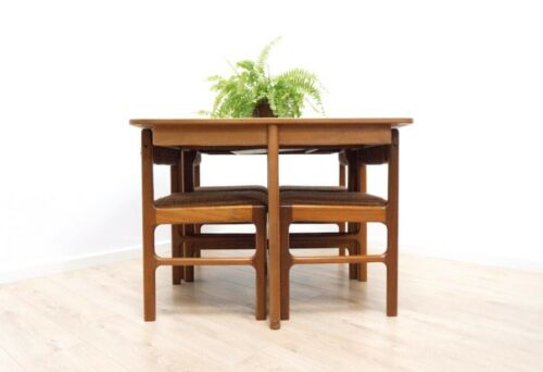 Mid Century McIntosh Vintage Teak Extending Dining Table & 4 Chairs 1960's /1072