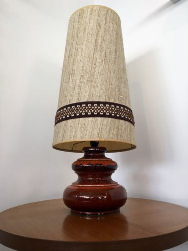 Vintage 1970's West German Large Fat Lava Lamp With Conical Shade