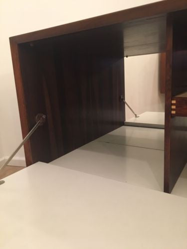 Mid Century Danish Cado Rosewood TV Media Unit Storage Unit COURIER