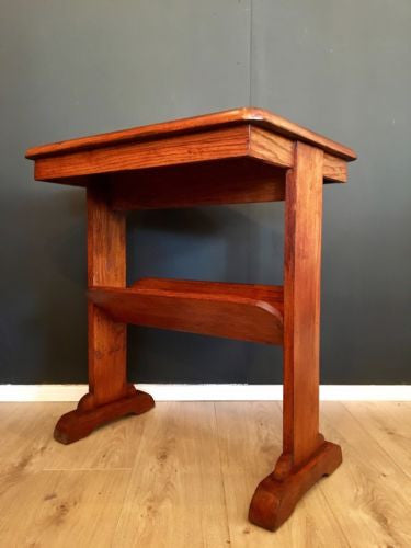 Victorian Oak Prayer Library Table Hall Table