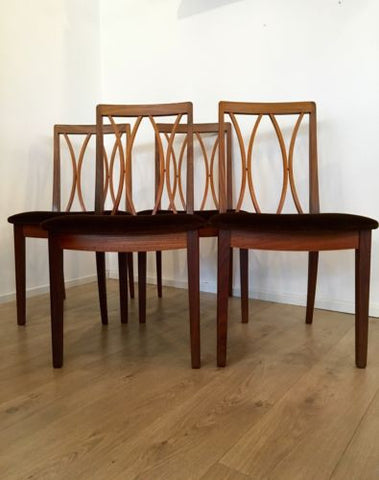 Vintage 1970'S Set of 4 G Plan Dining Chairs Designed by E Gomme