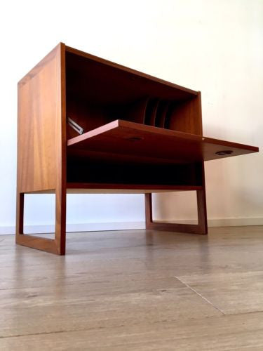 Mid Century Danish Teak Storage Cupboard Cabinet Console Side Table 1960's