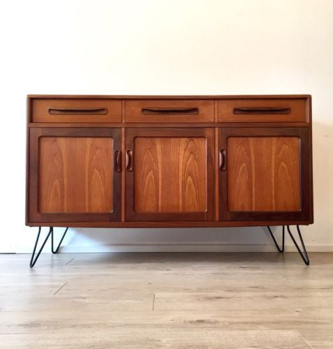 Mid Century Vintage Retro Teak G Plan Fresco Sideboard Drawers On Hairpin Legs
