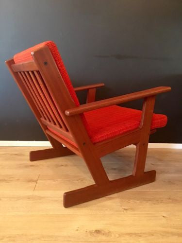 Vintage 1970's Danish Teak Arm Chair Lounge Chair Mid Century COURIER