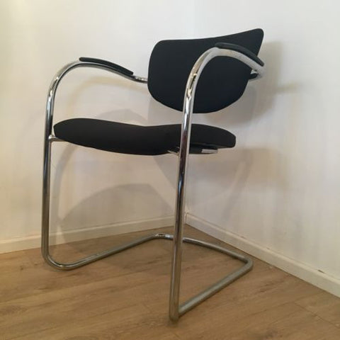 Black/ Chrome Cantilever Office Desk Chair By Senator 2 Available  COURIER