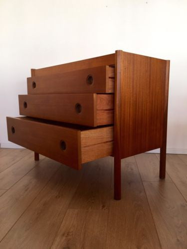 Vintage 1970's Teak Drawers By Wrighton  Danish Influence Mid Century