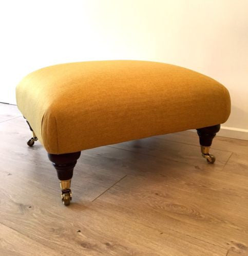 Vintage Laura Ashley Footstool Pouffe Newly Upholstered COURIER