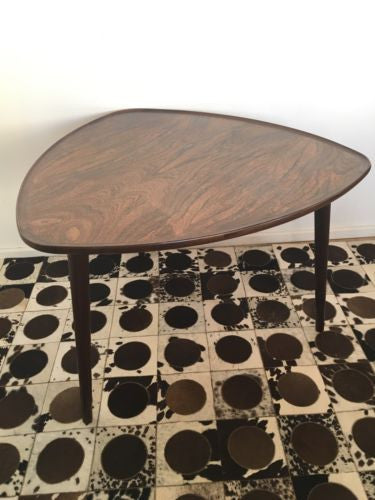 Vintage Danish Rosewood Coffee Table Occasional Table 1960's 1970's COURIER