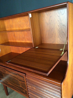 Mid Century Teak & Rosewood Sideboard Credenza By White & Newton COURIER